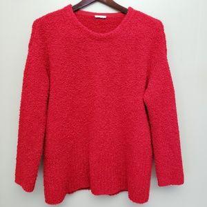 Purejill by J. Jill Long-Sleeve Fluffy Sweater M